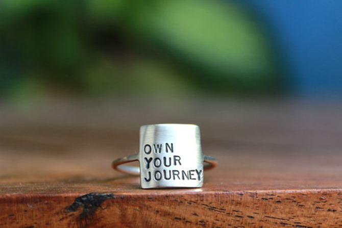 Handmade Jewelry on Etsy - Own Your Journey Stamped Ring