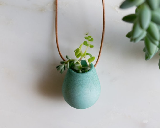 Handmade Jewelry on Etsy - Planter Necklace
