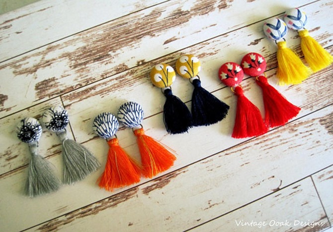 Handmade Jewelry on Etsy - Tassel Earrings