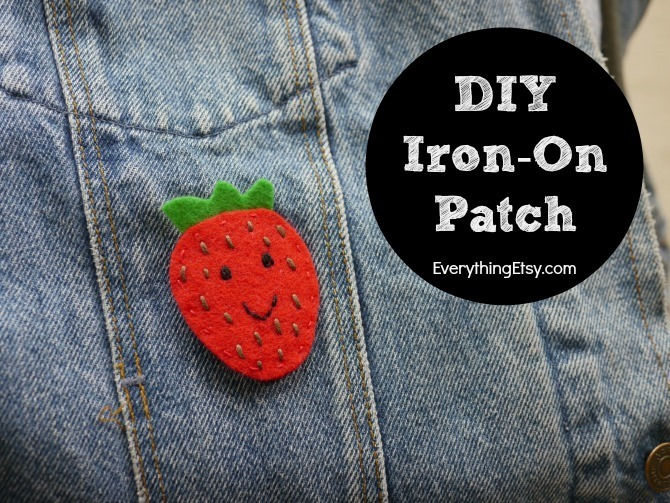 DIY Iron On Patch - - Felt Flair Strawberry by Kimberly Layton