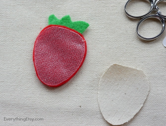 DIY Iron On Patch - Felt Flair Strawberry by Kimberly Layton