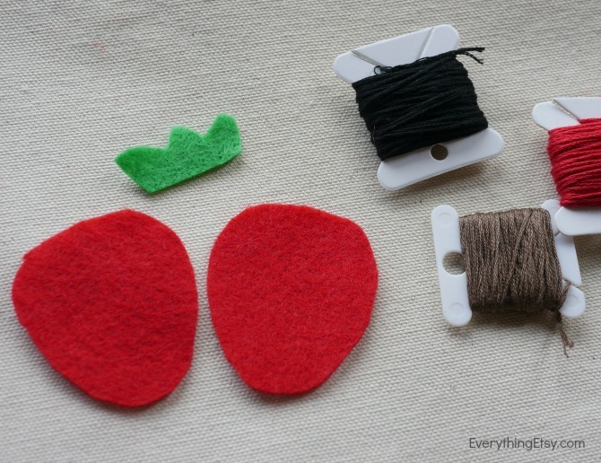 Felt Pattern Pieces - DIY Iron On Patch - Felt Flair by Kimberly Layton