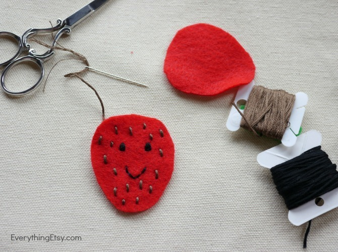 Stitching Felt Flair - DIY Iron On Patch - EverythingEtsy.com