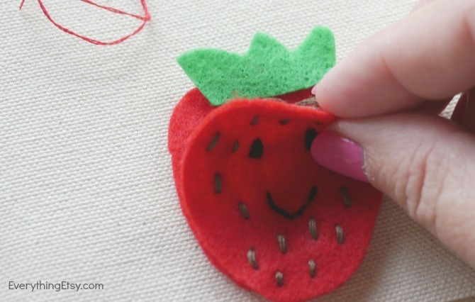 Strawberry DIY Iron On Patch - Everything Etsy