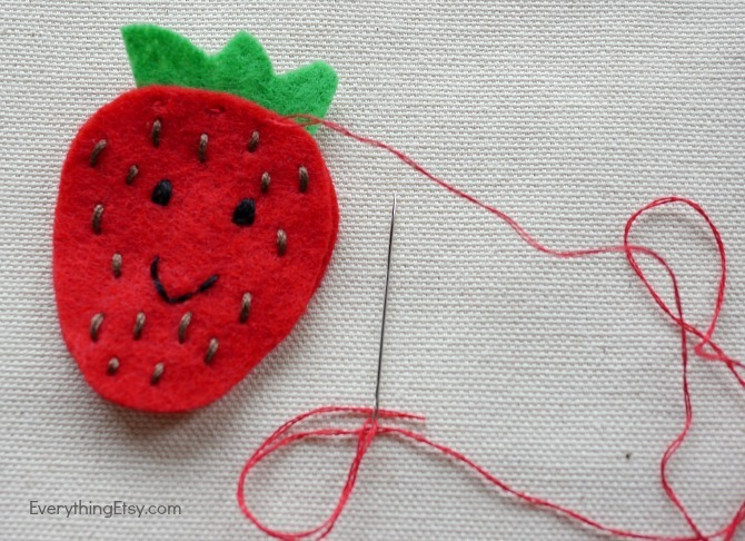Strawberry DIY Patch - Felt Flair by Kimberly Layton