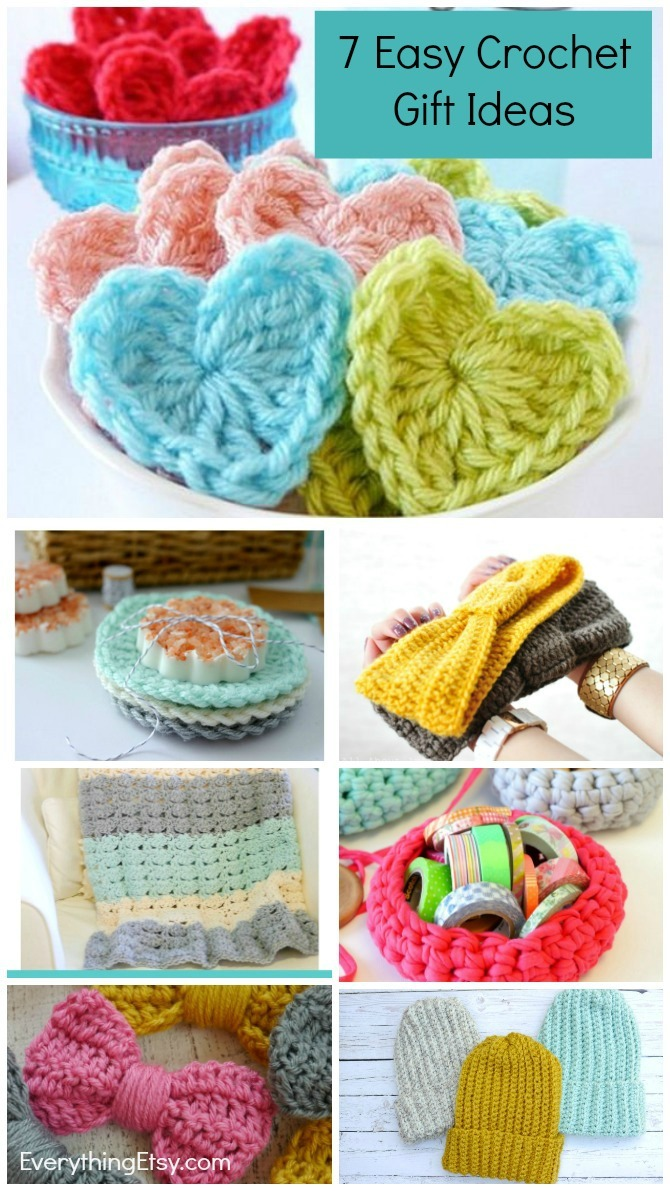 7 Easy Crochet Gift Ideas - Great Patterns for Beginners! EverythingEtsy.com