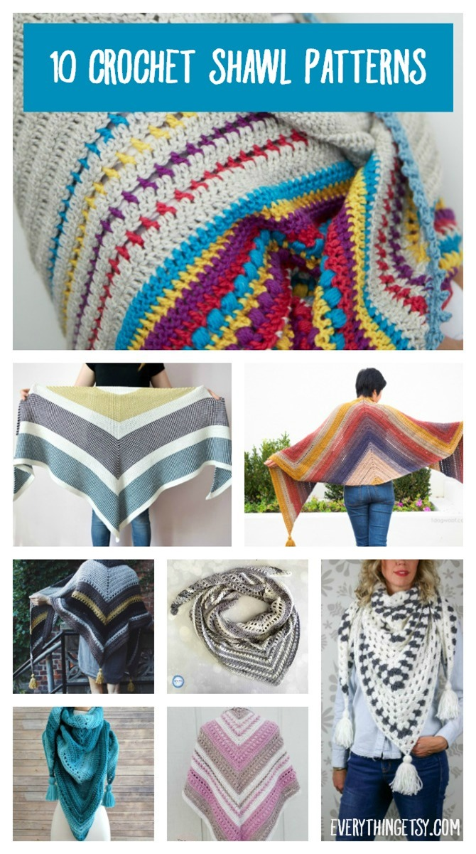 10 Free Crochet Shawl Patterns Everythingetsy