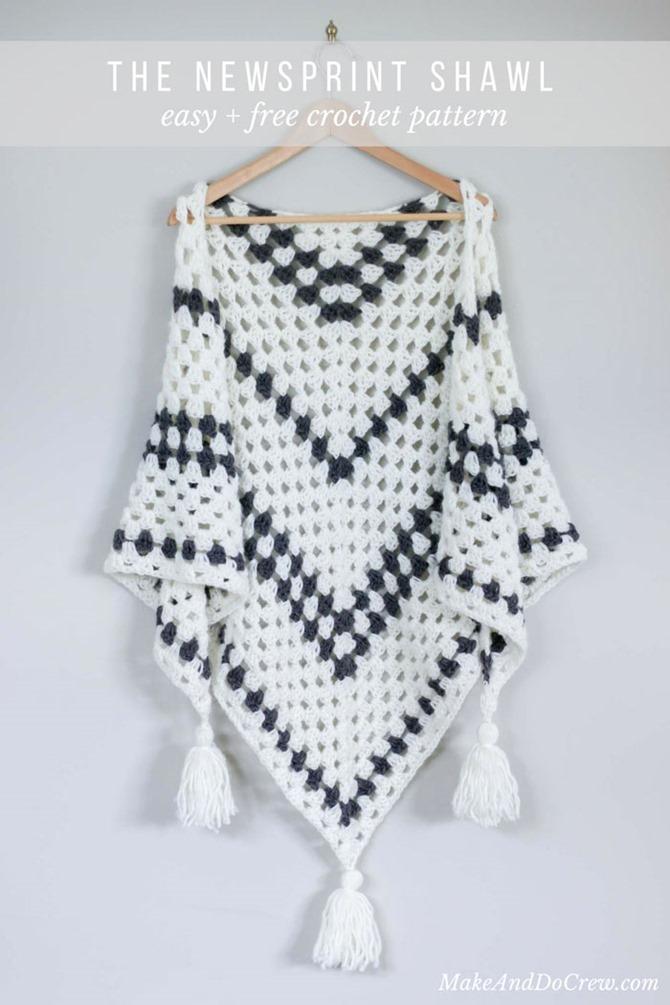 Free Crochet Shawl Pattern - Granny Stitch
