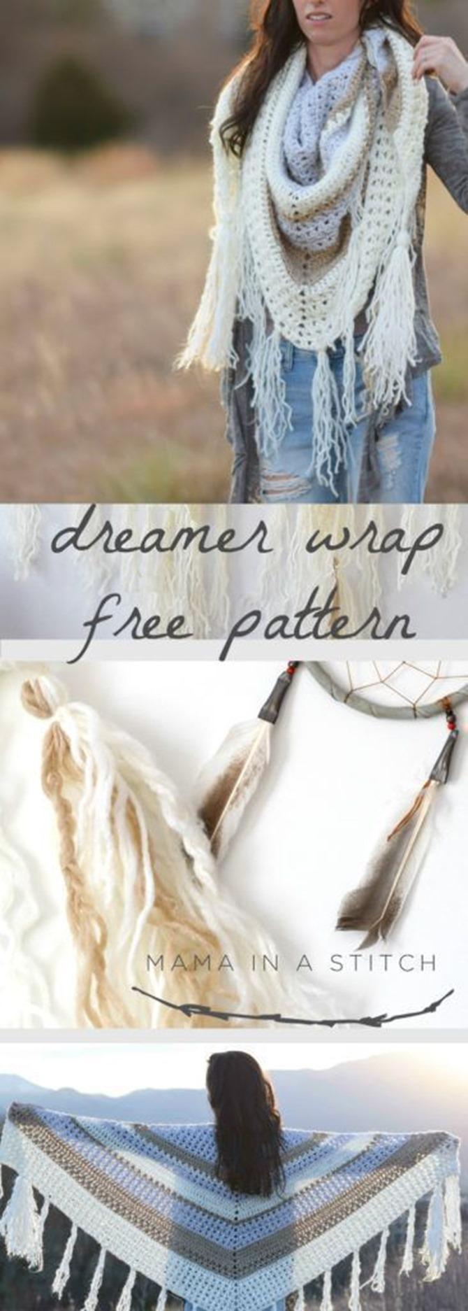 free crochet shawl pattern - dreamer