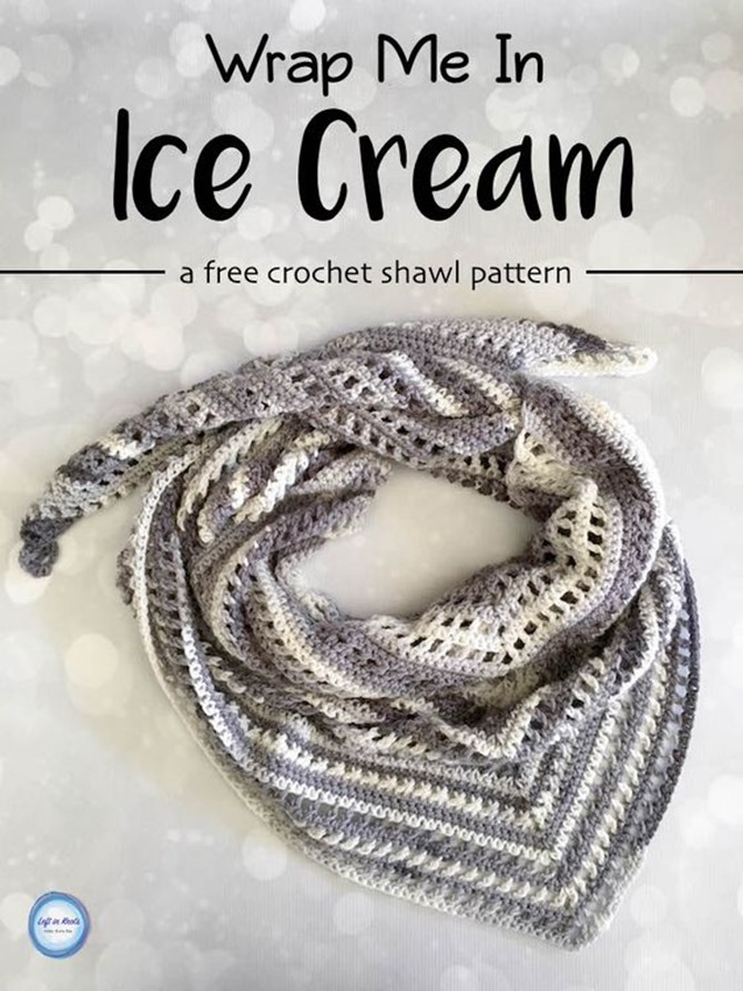 free crochet shawl pattern - ice cream shawl