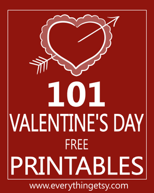 101 Valentine's Day Printables - Free on EverythingEtsy
