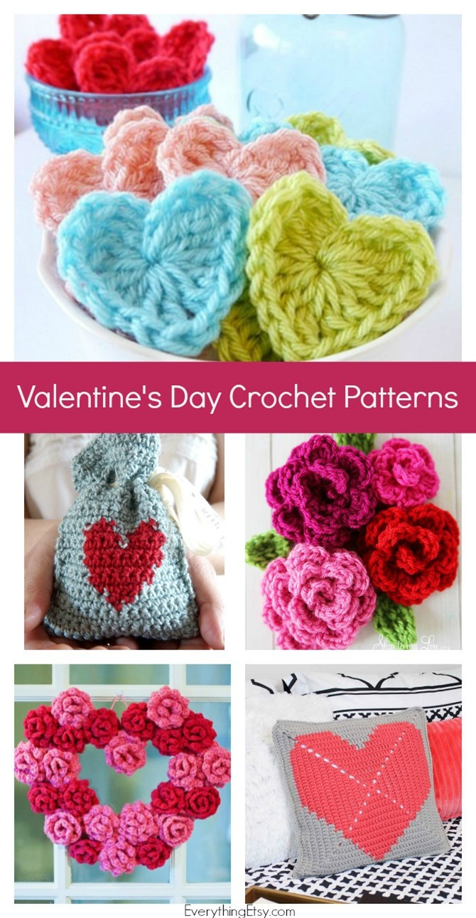 Free Crochet Patterns for Valentine's Day {Easy Projects} - EverythingEtsy.com