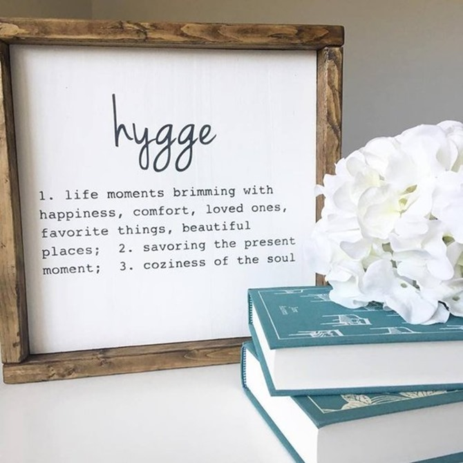 Hygge Sign - Etsy Finds