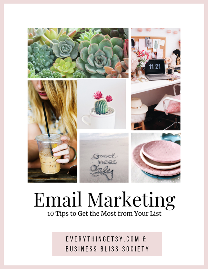 10 tips to get the most from email marketing for your creative business!