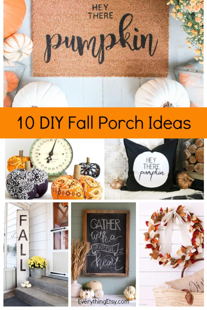10 DIY Fall Porch Ideas - Easy Decor Tutorials - EverythingEtsy.com