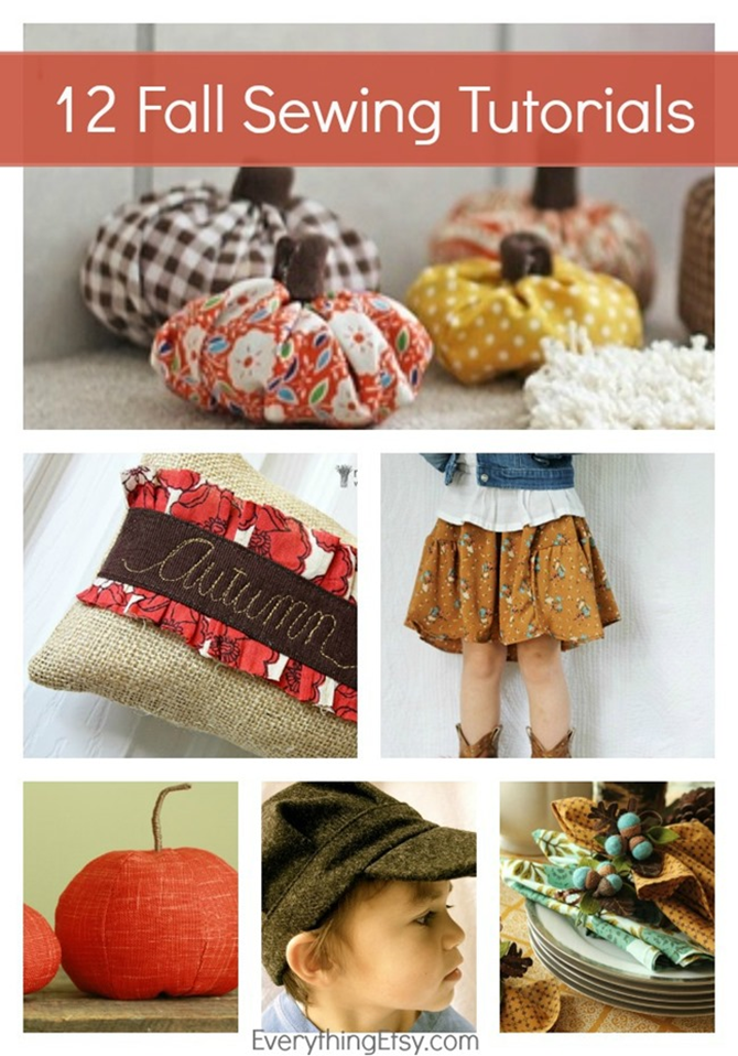 12 Fall Sewing Tutorials - DIY goodness on EverythingEtsy