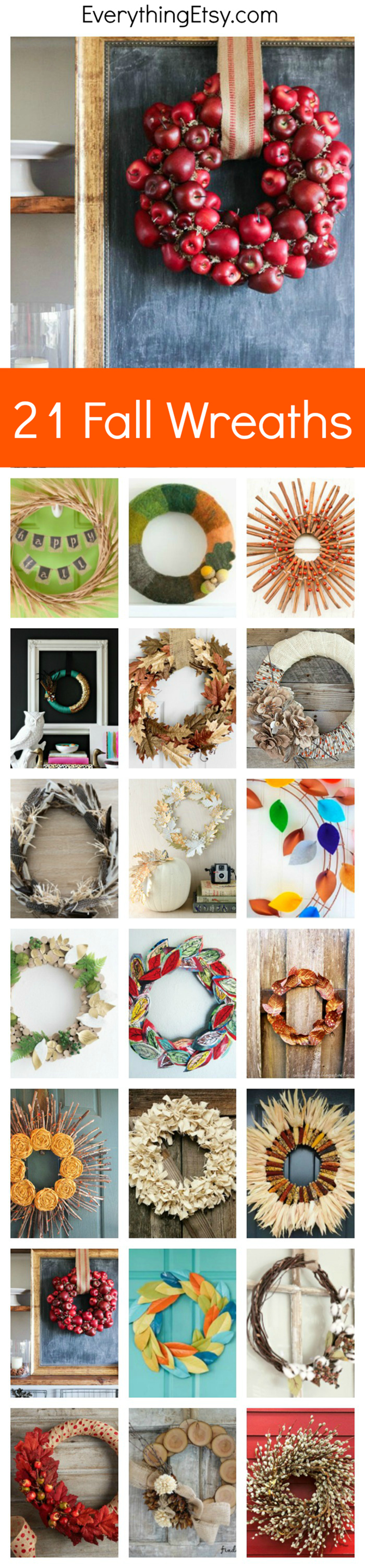 21 Fall Wreath Ideas That DIY Dreams are Made of... EverythingEtsy