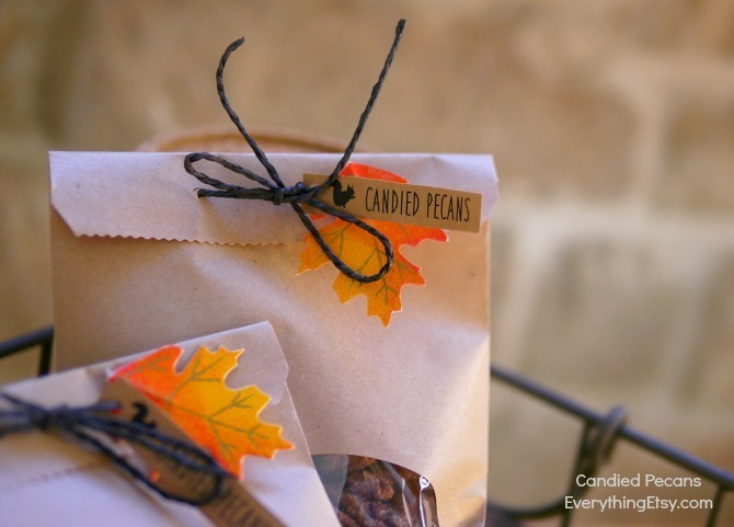 Candied Pecans Packaging Idea for Fall Gift - EverythingEtsy.com