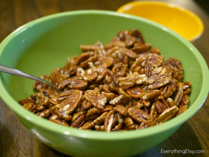 Candied Pecans Recipe and Fall Packaging on EverythingEtsy.com