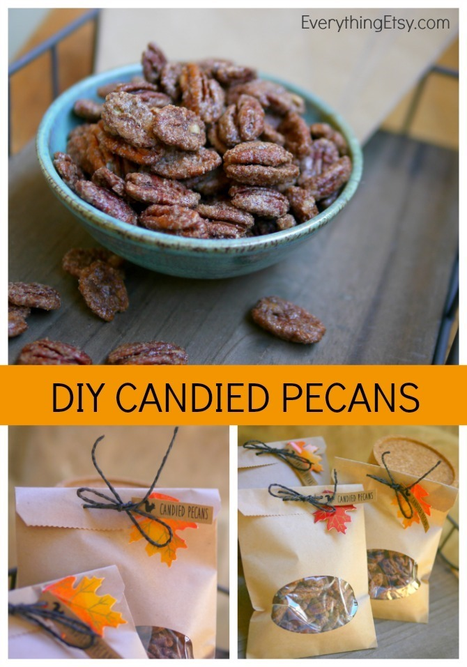 DIY Candied Pecans - Recipe on EverythingEtsy.com