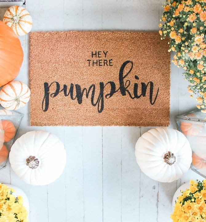 DIY Fall Decor for Your Front Porch - doormat