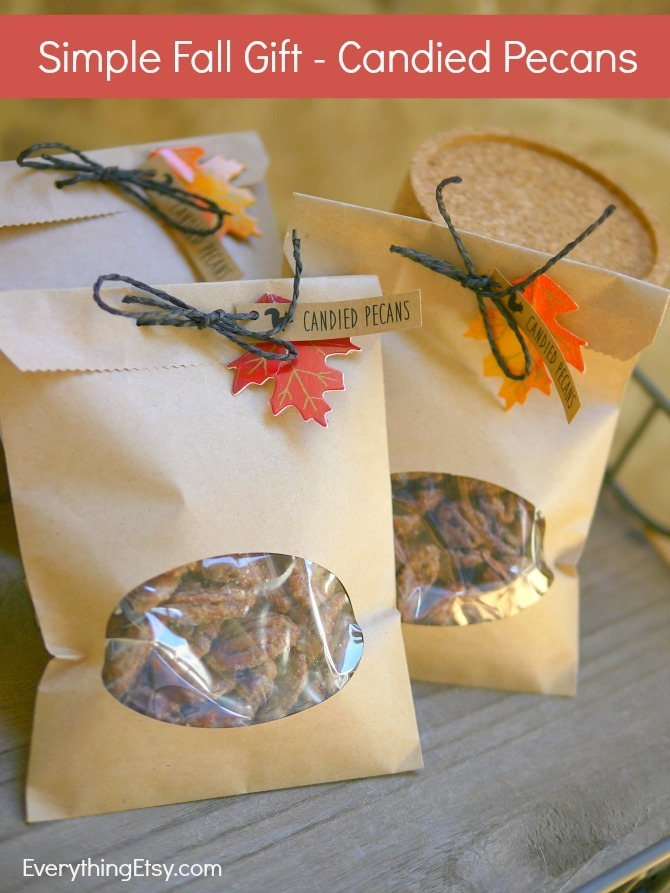 Easy Candied Pecans - Simple Fall Gift Idea - EverythingEtsy.com