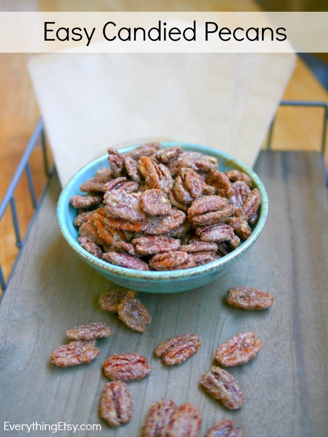 Easy Candied Pecans on EverythingEtsy.com