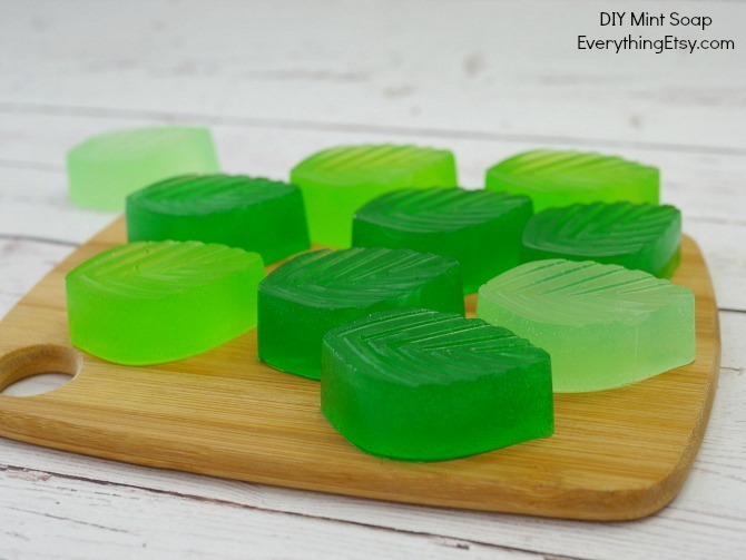 DIY Mint Soap - Easy Handmade Gift Idea on EverythingEtsy.com