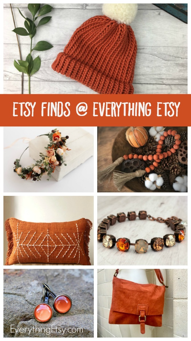 Etsy Finds at Everything Etsy - Burnt Orange Gift Ideas - EverythingEtsy.com