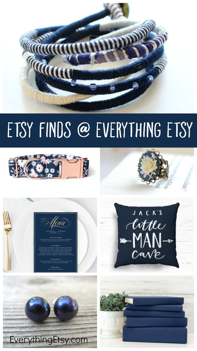 Etsy Finds at Everything Etsy - Handmade Gift Ideas in Navy Blue - EverythingEtsy.com