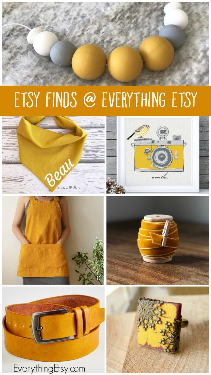 Etsy Finds at Everything Etsy - Mustard Yellow Fall Gift Ideas - EverythingEtsy.com