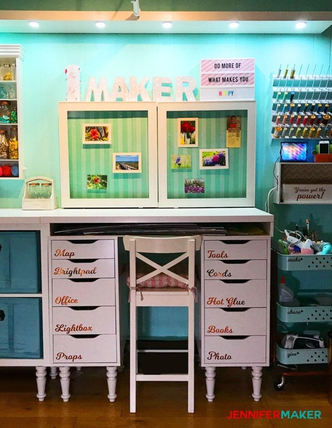 Craft room organization and inspiration - Craft room tour - JenniferMaker
