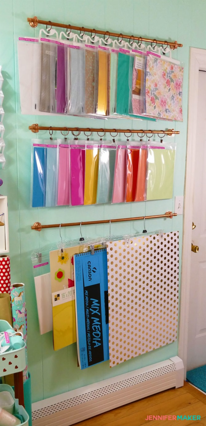 Organized craft supplies by JenniferMaker - Craft Room Tour