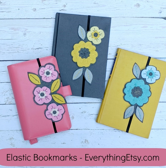 Best Book Lover Gift - Elastic Band Bookmarks by Kimberly Layton on Etsy - EverythingEtsy.com - Handmade Gift Idea