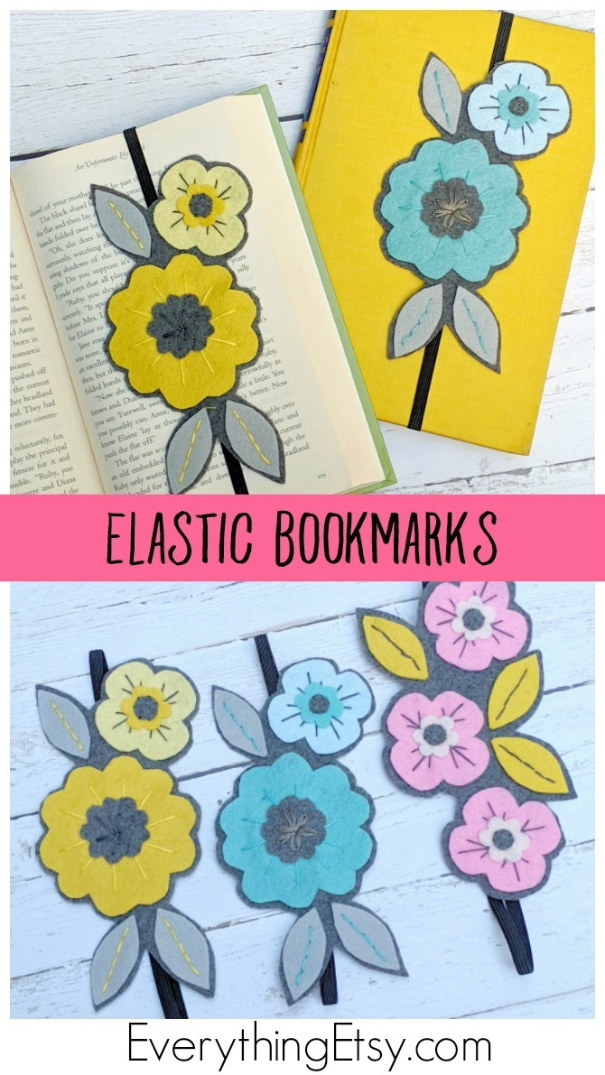 Elastic Bookmarks - Handmade Band Bookmarks - Book Lover Gift by KimberlyLayton  - EverythingEtsy.com