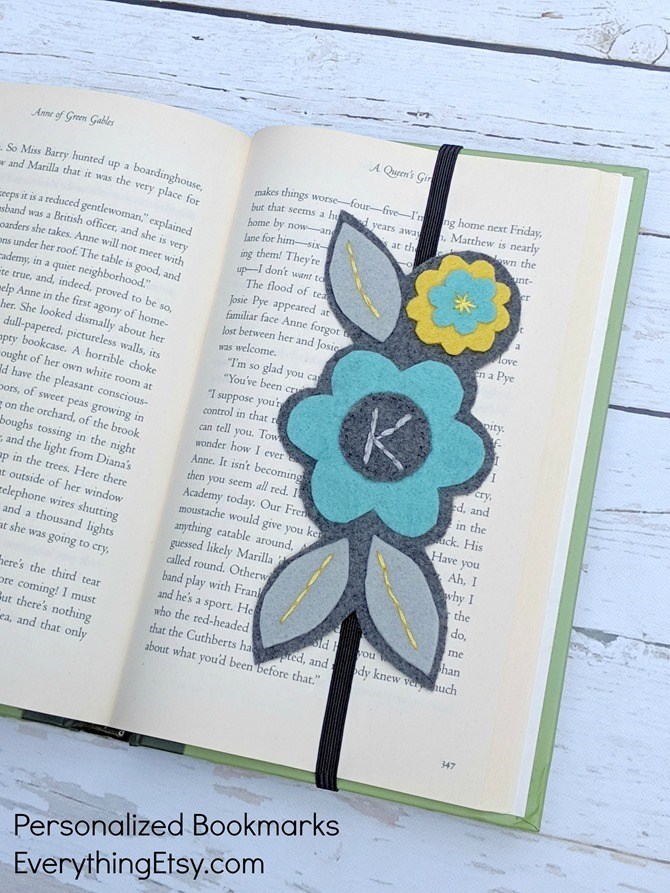 Personalized Bookmarks handmade by Kimberly Layton on Etsy - Elastic Band Bookmarks for book lovers - EverythingEtsy.com