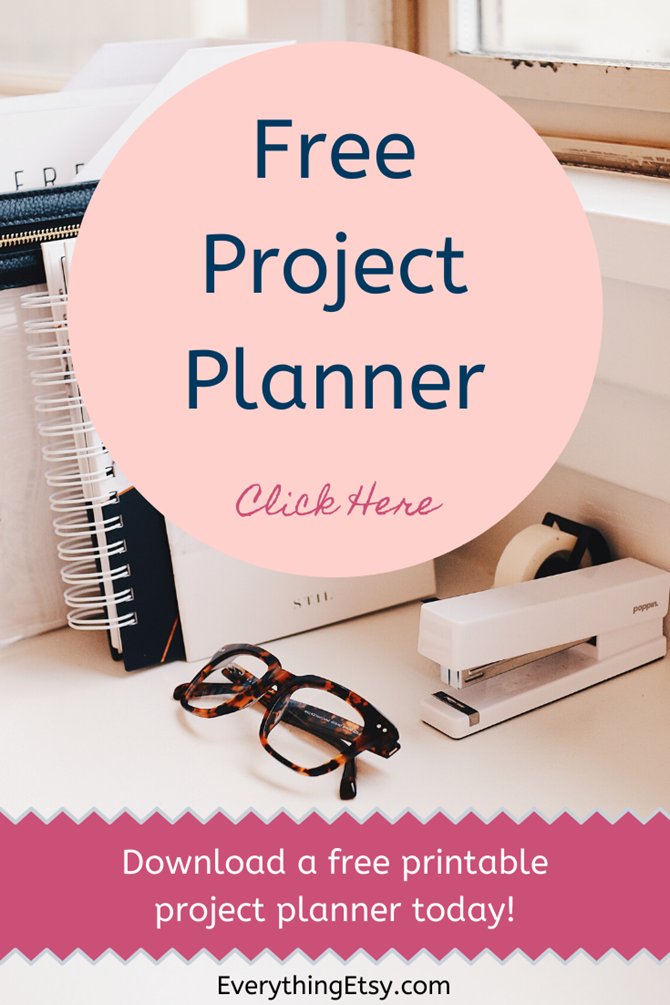 Free Project Planner Printable Download on EverythingEtsy.com
