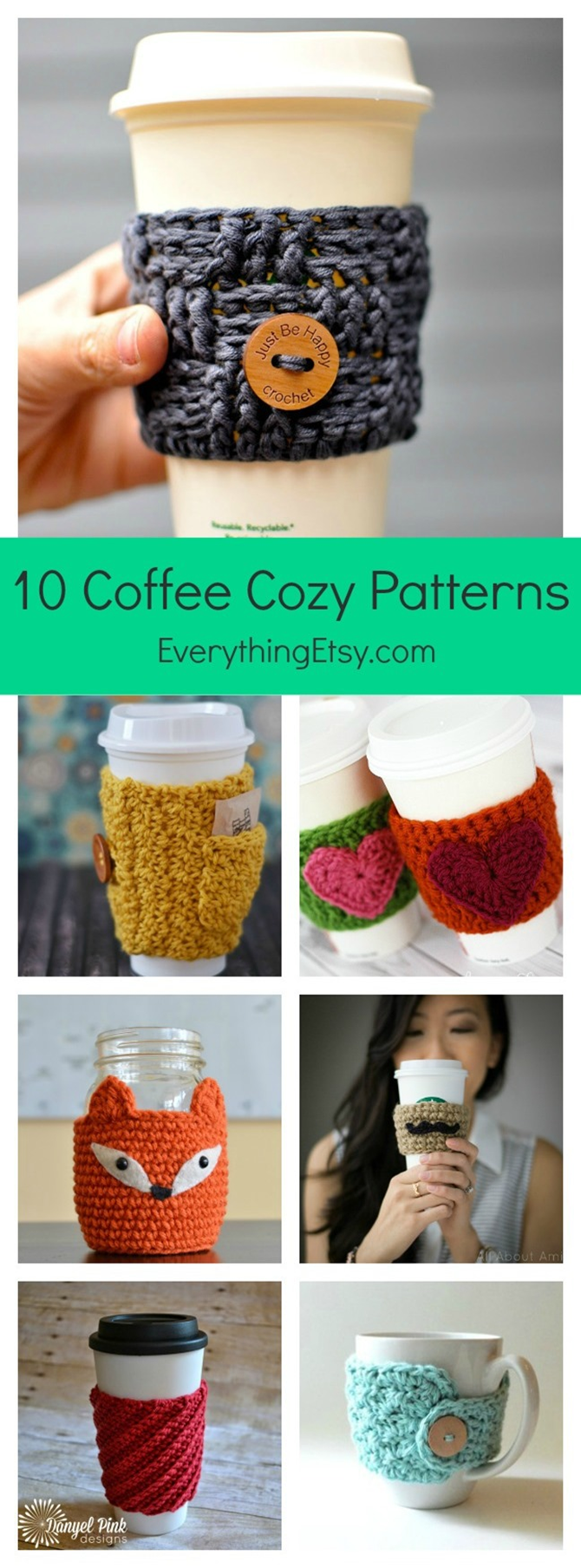 10 Free Coffee Cup Cozie Patterns - EverythingEtsy