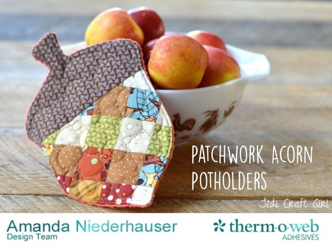 101 Fall Sewing Tutorials - EverythingEtsy.com - Acorn Potholder Pattern