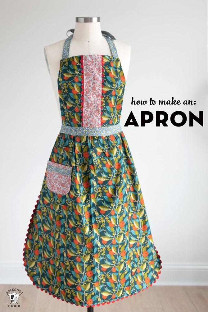 101 Fall Sewing Tutorials - EverythingEtsy.com - Apron Pattern