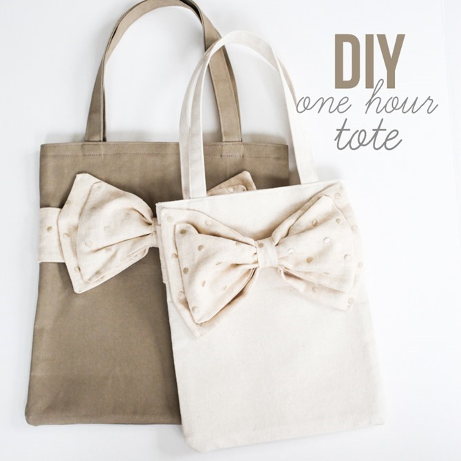 101 Fall Sewing Tutorials - EverythingEtsy.com - DIY Bow Tote Sewing Pattern