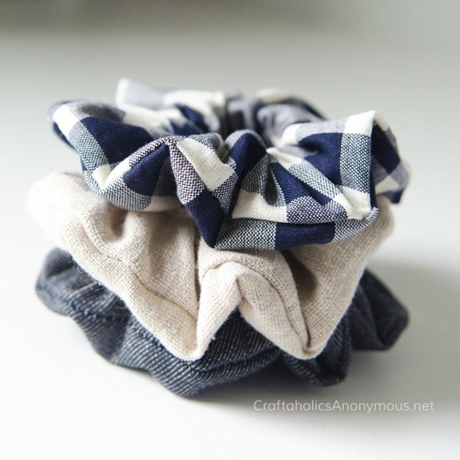 101 Fall Sewing Tutorials - EverythingEtsy.com - DIY Scrunchie