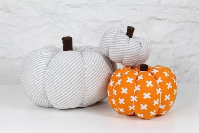 101 Fall Sewing Tutorials - EverythingEtsy.com - Easy Fabric Pumpkin Tutorial