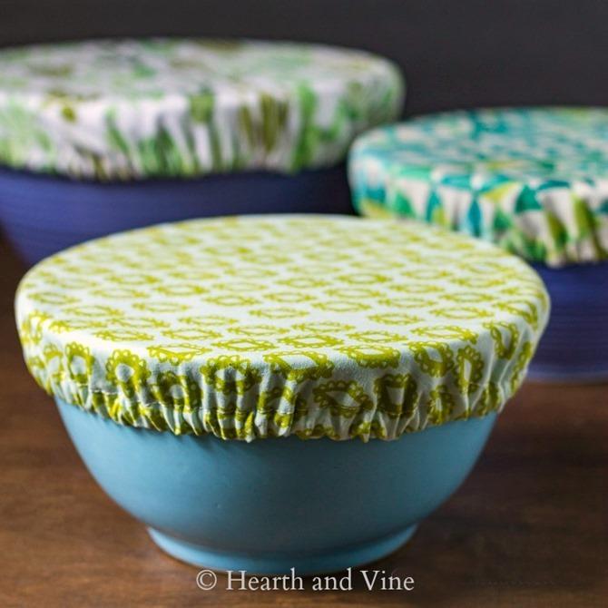 101 Fall Sewing Tutorials - EverythingEtsy.com - Fabric Bowl Covers DIY