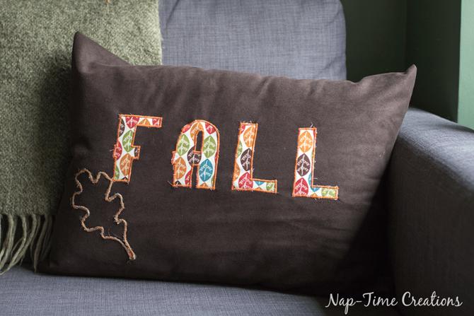 101 Fall Sewing Tutorials - EverythingEtsy.com - Fall Appliue Pillow Tutorial