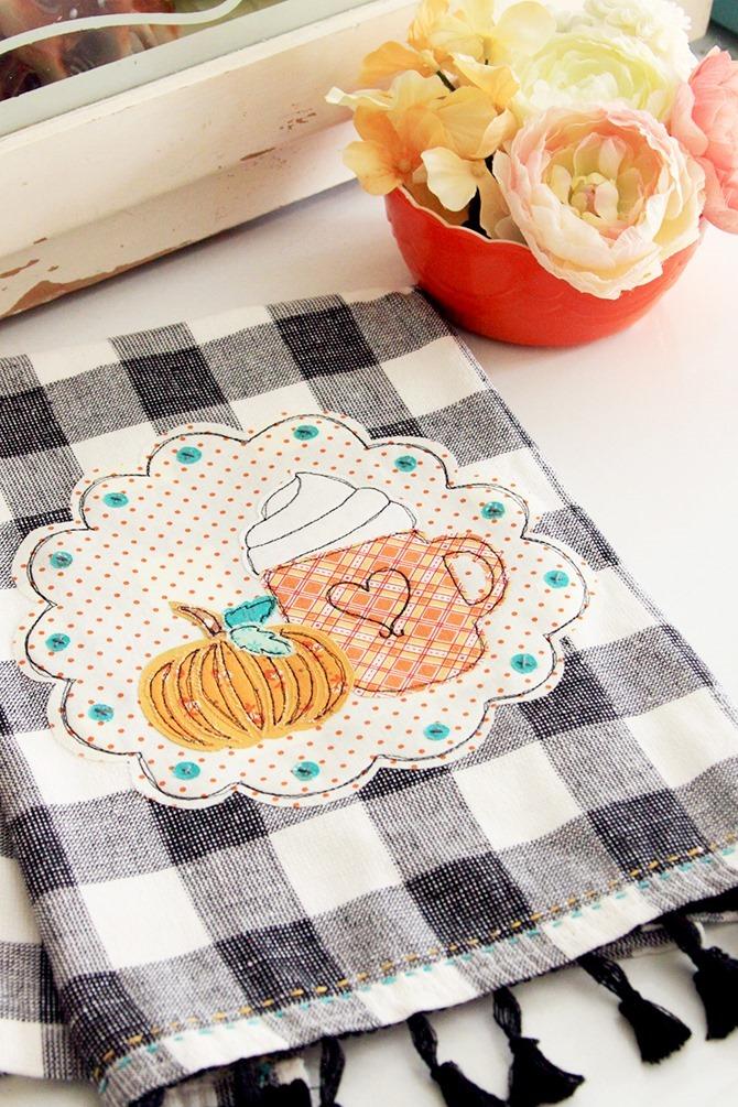 101 Fall Sewing Tutorials - EverythingEtsy.com - Fall Dish Towel