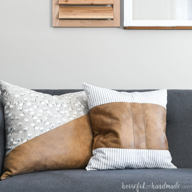 101 Fall Sewing Tutorials - EverythingEtsy.com - Fall Leather Pillow Tutorial