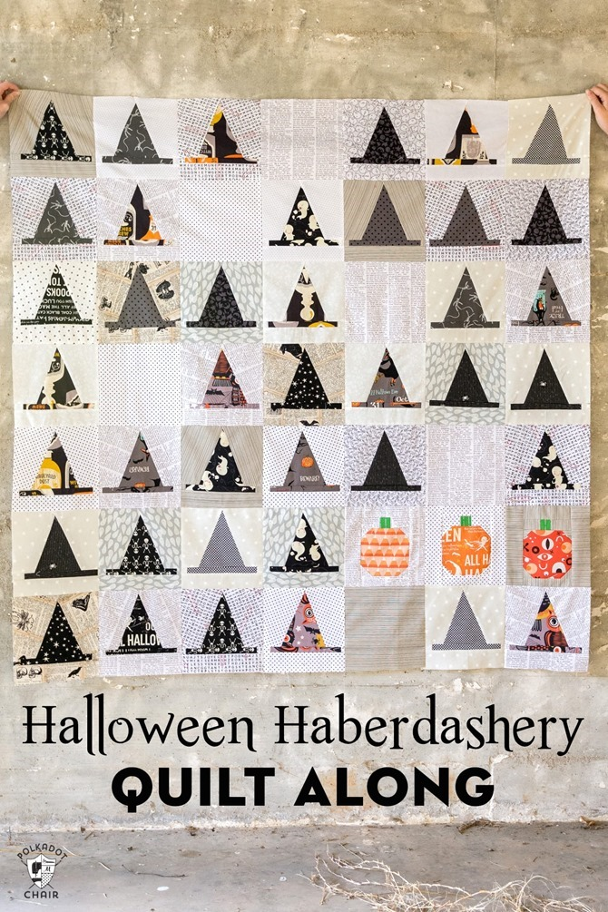 101 Fall Sewing Tutorials - EverythingEtsy.com - Halloween Quilt