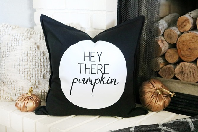 101 Fall Sewing Tutorials - EverythingEtsy.com - Hey There Pumpkin Pillow DIY