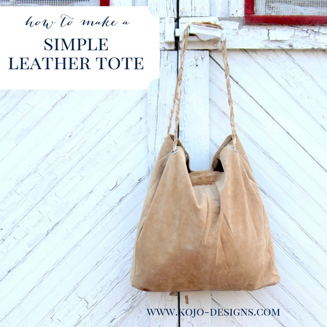101 Fall Sewing Tutorials - EverythingEtsy.com - Leather Tote